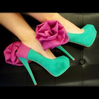 Fuschia Flower  Heel Accessory