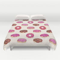 Homemade Doughnuts Duvet Cover by Perrin Le Feuvre | Society6