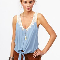 Tied Crochet Top in  What's New at Nasty Gal