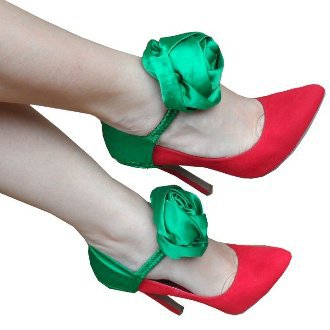 Green Flower Heel Accessory