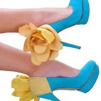 Yellow Flower Heel Accessory