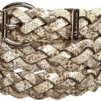 AK Anne Klein Women's Woven Snake Panel Belt