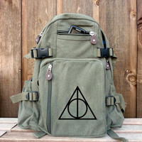 Small Pack - Hand Painted on Military Style Rucksack/Backpack