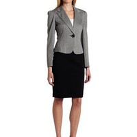 Nine West Women&#x27;s Knit Unmatched Jacket And Skirt