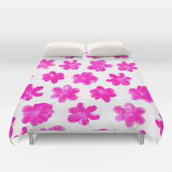 Flowering In Pink Duvet Cover by Ornaart