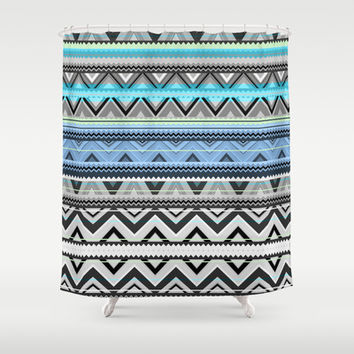 Mix #76 - Double Size Shower Curtain by Ornaart