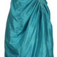 Strapless Taffeta Beaded Prom Dress Formal Gown Junior Plus Size