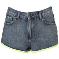 Topshop USA- MOTO Bound Hem Denim Shorts