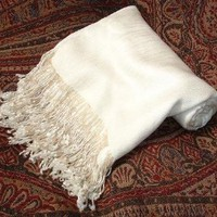 Hand Beaded Pashmina Scarf Shawl Wrap Throw