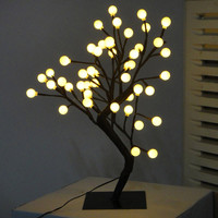 "Walmart: 17.71"" Desk-Top White LED Ball Tree, Black"