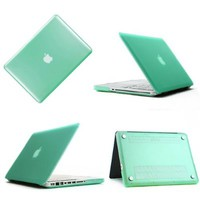 "Frosted Plastic Hard Case For Apple Macbook Pro 13.3"" Light Green"