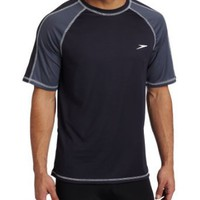 Speedo Men`s Keepin` On Short Sleeve Rashguard Swim Tee