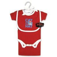Trend Lab Dr Seuss Cat in the Hat 4 Piece Layette Gift Set