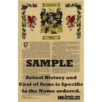 Fantoni Coat of Arms / Family Crest with Armorial History on Beautiful 11 x 17 Parchment Paper