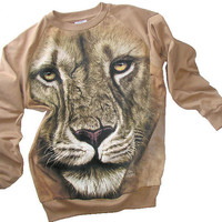LION Tie Dye Organic Camel Fleece Sweater