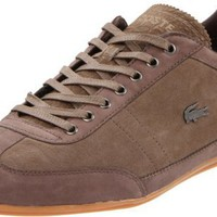 Lacoste Men`s Misano 7 Sneaker,Dark Brown/Light Brown,8.5 M US