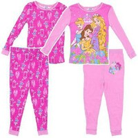 Disney Baby-Girls Infant Princesses 4 Piece Pajama Set