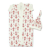 Anchors Away Nic-Gowns; Available in Black or Red - 3 Sizes *NICU Approved