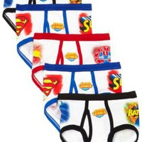 Fruit Of The Loom Boys 2-7 5 Pack Justice League Briefs