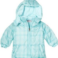 Pink Platinum Baby-girls Infant Tonal Plaid Puffer Jacket