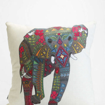 Sharon Turner for DENY Painted Elephant Pillow - Urban Outfitters