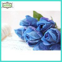 Source 45cm real touch silk fake blue roses on m.alibaba.com