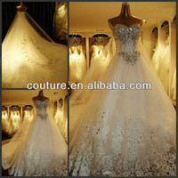 Alibaba.com - Wholesale Hot Selling Kingly Laest Designs Applique Beaded Beading Shiny Crystal Diamond Long Tail Wedding Dresses In Turkey 2014 NWT-02