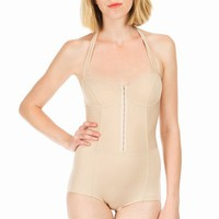 RODARTE FOR OPENING CEREMONY SOLID HALTER ONE-PIECE - DARK NUDE - RSWIM01 - WOMEN - JUST IN