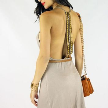 KNIT DRESS - TAUPE