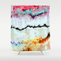 Agitation Inverted Shower Curtain by Claudia McBain
