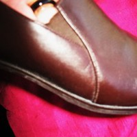 MUNRO SHOES BROWN CHOCOLATE LEATHER LOAFERS ! S 8 N/38,5 !MADE IN USA !