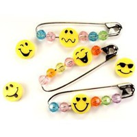 Smiley Face Bead Swaps, Makes 24 Pins