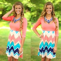 More Than A Memory Chevron Dress
