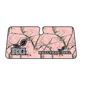 Realtree Girl Single Windshield Shade - Realtree AP Pink Camo