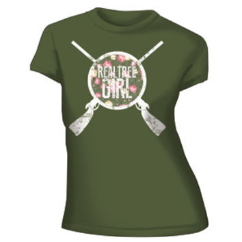 Realtree Girl Annie Get Your Gun Fitted T-Shirt