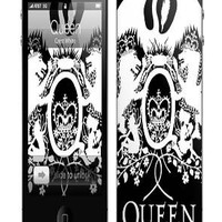 MusicSkins Queen Crest White iPhone 44S Skin : Karmaloop.com - Global Concrete Culture