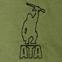 Arm The Animals — W: ATA Logo V-Neck (Mil Green)