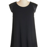 ModCloth Urban Mid-length Cap Sleeves Distill the One Top