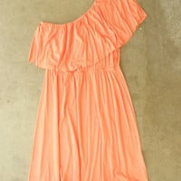 Sweet Ruffled Apricot Dress [2738] - &amp;#36;32.00 : Vintage Inspired Clothing &amp; Affordable Summer Dresses, deloom | Modern. Vintage. Crafted.