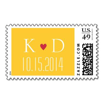 Simple Gold Save The Date Wedding Stamps