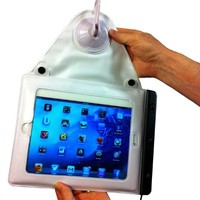Waterproof, Shower Mount iPad Case - World's Only Hanging Suction-Mount, Waterproof iPad Holder, Shower & Bath, Beach & Pool iPad Case - Act Now SAVE 45%