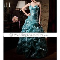 2012 style Ball Gown Spaghetti Straps Sleeveless Floor-length Fine Korean Organdy Prom Dress TPDWD155 [TPDWD155] - $149.99 : wedding fashion, wedding dress, bridal dresses, wedding shoes