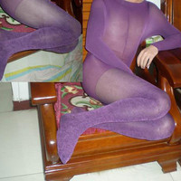 Bodyhose / Pantyhose Purple Velvet 120Denier Women Bodyhose [TOQ110720018] - &amp;#36;21.00