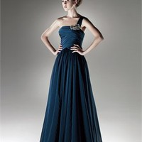 One shoulder Blue 2011 Love by Enzoani Prom Dresses EPD0068