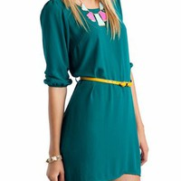 belted shift dress $36.30 in MAGNTBLUSH TEALYELLOW - Casual | GoJane.com
