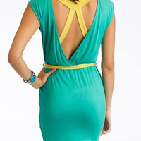 jersey cut-out tie dress $34.00 in LVDRORANGE MINTYELLOW - Casual | GoJane.com