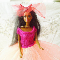 New Handmade  BARBIE DOLL CLOTHES  Ballgown by NANNYCHERYLKATE