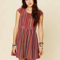 Ladakh Log Cabin Woven Dress at Free People Clothing Boutique