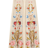 Temperley London - Toledo floral-embroidered silk-blend organza maxi skirt