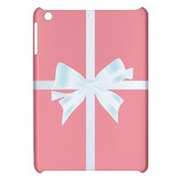 CUTE Pink Tiffany Box Bow iPad Mini Hardshell Case Cover